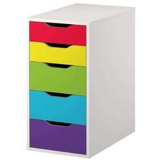 Classic Rainbow Stripe Decal Set for IKEA Alex Drawer Unit Ikea Alex Drawers, Alex 5 Drawer, Diy Home, Home Decor, Rainbow Decorations, Rainbow Theme, Drawer Unit, Valspar, Craft Stick Crafts
