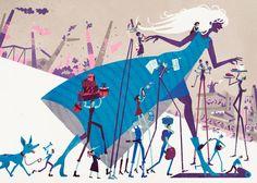 Illustration by Ilja Karsikas for Chydenius, OP Pohjola, Alma 360, 2013