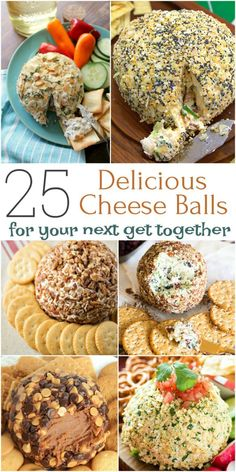 Cheese balls are one of my favorite party appetizers, so creamy and delicious…. Cheese balls are one of my favorite party appetizers, so creamy and delicious. Here are 25 ideas for holidays, game days and any festive occasion! Delicious Cheese Ball Recipe, Cheese Ball Recipes, Yummy Food, Owl Cheese Ball Recipe, Potato Recipes, Carrot Recipes, Sausage Recipes, Appetizers For Party, Appetizer Recipes