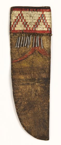 Knife sheath sioux circa 1880 native american indian for Native crafts for sale
