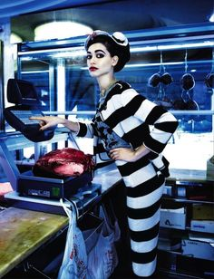 """Delicatessan"": Louise de Chevigny by Wayne Maser for Vanity Fair Italia April 17 2013"