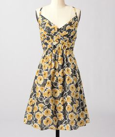 Take a look at this Posey Zoe Dress by Down East Basics on #zulily today! Yellow is a GREAt spring and summer color. And this flirtly dress is a great vintage feel buy at just $29.99