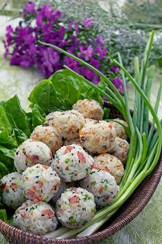 Reuse leftovers & Rethink rice with 2 types of rice balls. A good way to reduce waste and get creative with local produce