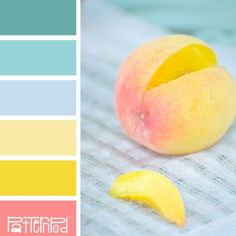 This is pretty much the RMS color palette for life. Just Peachy Bedroom Color Schemes, Colour Schemes, Color Combos, Bedroom Colors, Bedroom Yellow, Bedroom Turquoise, Paint Schemes, Rgb Palette, Colour Pallette