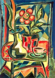 JACQUELINE DITT - Stilleben  A4 Druck n.Gemälde Bild art print Vase Blume Bilder
