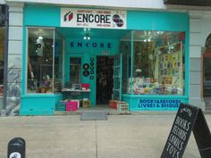Favorite NDG Spots: Encore and Cafe Shaika Vhs Tapes, Cool Places To Visit, Vinyl Records, The Good Place, Neon Signs, Entertaining, Graphic Novels, My Favorite Things, Magazines