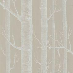 Papier peint forêt taupe WOODS - Cole and Son - Au fil des Couleurs