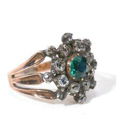 Regency Era Emerald and Diamond Ring.