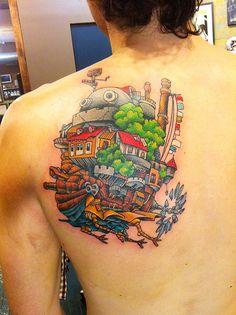 Howl's Moving Castle Tattoo | Bored Panda