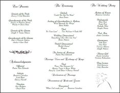 Free Printable Wedding Programs Templates  The Template Is