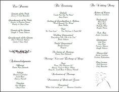 free printable wedding programs templates | ... templates many great wedding similarmembership is free with microsoft