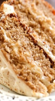 Gingersnap Spice Cake | fall cake, winter cake recipe