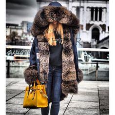 Fur lined parka