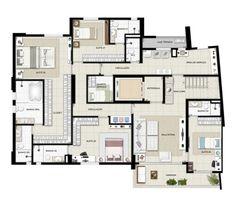 Planta duplex inferior - Torre Boulevard - Final 01 390 m²