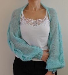 Womens Sweater Cardigan Jacket Shrug Bolero by reflectionsbyds