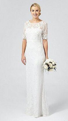 Debut Ivory 'Paloma' lace and beaded wedding dress http://www.weddingheart.co.uk/debenhams---wedding-dresses.html