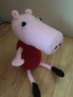 This cute little crochet Peppa Pig is approximately in height. It is filled with safe polyester. Peppa Pig, Crochet Toys, Snoopy, Handmade Gifts, Vintage, Etsy, Kid Craft Gifts, Craft Gifts, Vintage Comics