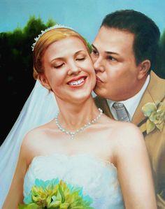 WeddingPortraits | WeddingPaintings | Bridal Portraits.... #wedding #weddingportrait #paint #painting #paintyourlife