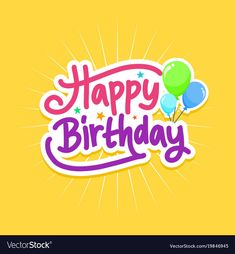 Birthday card with handwriting font and fun style. Download a Free Preview or High Quality Adobe Illustrator Ai, EPS, PDF and High Resolution JPEG versions.