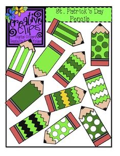 This clipart bundle is perfect for jazzing up your resources, newsletters, labels etc with some St. Best of all- it& free! There are 11 brightly colored images in png formats plus four black and white version for worksheets. St Pattys, St Patricks Day, Pencil Clipart, Speech Therapy Activities, Teaching Activities, Play Therapy, Teaching Ideas, Teacher Notebook, Cool Fonts
