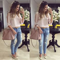Ariane Canovas. Casual Fall Outfits, Classic Outfits, Chic Outfits, Summer Outfits, Fashion Outfits, Moda Casual, Casual Chic, Looks Pinterest, Look Office