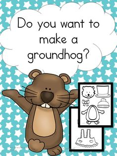 Do you want to make a Groundhog? Do you want to make a Groundhog? Fun Groundhog Day Craft for preschool- Kindergarten. Practice cut, color & paste skills and have fun with the Groundhog.