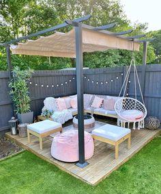 Back Garden Design, Small Backyard Design, Small Backyard Patio, Backyard Patio Designs, Backyard Projects, Backyard Pools, Diy Patio, Budget Patio, Backyard Ideas On A Budget
