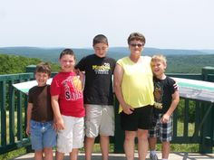 Grandma and the grand kids at Taum Sauk Mountain!
