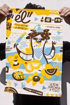 Repasadores / Mantelitos  by SuperDD!    Lienzo de hilado grueso crudo, estampado a tres tintas con serigrafia con los mejores disenios.  Podes llevarte uno, dos o los tres!!! consulta por el pack!    Medida aproximada 40x60 cm.  Y si, son lavables, y si, los podes usar como individuales y si, bardean tu cocina!    Kitchen Towels  by SuperDD!