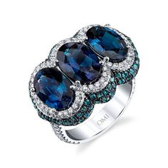 6.99 carats of alexandrite in three beautifully matched gemstones. We love this big look! #jewelry #jewels #jewel #fashion #gems #gem #gemstone #bling #stones #accessories #love #beautiful #ootd #style #fashionista #instajewelry #stylish #jewelrygram #blue #green #sapphire #by_couture #couturedailydose #coutureready #showyourcouture