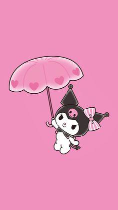 Iphone Wallpaper Kawaii, Sanrio Wallpaper, Cute Wallpaper For Phone, Cellphone Wallpaper, Cute Black Wallpaper, Trendy Wallpaper, Pink Wallpaper, Hello Kitty Backgrounds, Cute Wallpaper Backgrounds