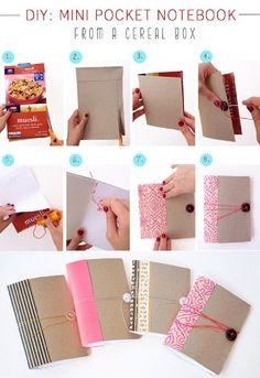 transformer boite de céréale en carnet