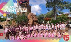 El grupo #amarilloJ16 está en disfrutando en #IslandsOfAdventures!