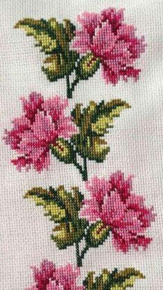 Cross Stitch Boarders, Cross Stitch Bird, Cross Stitch Flowers, Cross Stitch Charts, Cross Stitch Embroidery, Cross Stitch Patterns, Drawn Thread, Brazilian Embroidery, Needlepoint