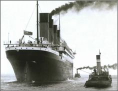 Titanic during her sea trials