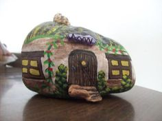gnome house - painted rock