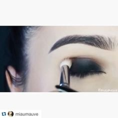 Smokey tutorial of previous post!  Press Play  #Repost @miaumauve with @repostapp.   Smokey   Products used:  @toofaced Perfect Eyes Waterproof Eyeliner Semi-Sweet Chocolate Bar Palette (Licorice Truffled Puddin') @anastasiabeverlyhills Waterproof Creme Color in Jet @sigmabeauty Sinuosity Lash Mascara (Launching August 17) @shopvioletvoss Lashes in Black Magic (Launching August 24) Brows: @anastasiabeverlyhills Dipbrow Pomade in Dark Brown @thebalm_cosmetics Brow Pow Powder in Dark Brown…