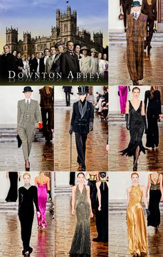 Downton at NYFW!  The bottom center dress!!