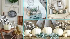 ❤ DIY Rustic Shabby Chic Style Fall decor Ideas ❤ | Home decor & Interio... Shabby Chic Fall, Shabby Chic Homes, Shabby Chic Style, Chic Fall Fashion, Rustic Chic Decor, Blue And Green, Small Apartment Decorating, Home Decor Paintings, Fall Home Decor