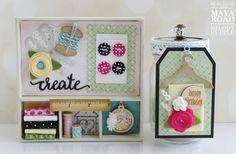 Maya Road Sewing Themed Gift Set Handmade Cards Handmade Gifts Sewing #mayaroad Shadow Box, Altered Art, Handmade Gifts, Handmade Cards, Maya, Stampin Up, Paper Crafts, Crafty, Sewing