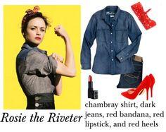 Rosie the Riveter Halloween Costume DIY via History & High Heels
