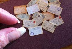 16 Tiny Postcards WW1 Dollhouse Miniature Amazing by PetiteUniques