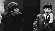 Asi nos gusta ver a John y a Paul