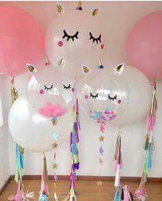 Giant unicorn balloons. Love!