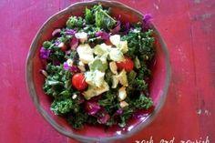 {Kale Avocado Salad} | Nosh and Nourish