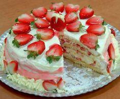 Receita de Torta de Morango Cremosa - Show de Receitas