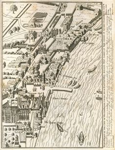 City Of Westminster, 1578 In the top right hand corner you can see 'Scotland Yard'. London Map, London Skyline, Old London, London City, Old World Maps, Old Maps, London Drawing, London History, British History