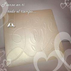 Invito love in carta perlata