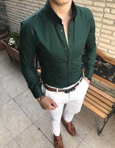 Formal Office Outfits for Men Formal Dresses For Men, Formal Men Outfit, Formal Shirts For Men, Casual Wear For Men, Stylish Mens Outfits, Men Formal, Mens Casual Shirts, Simple Outfits, Formal Wear