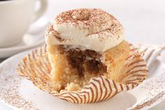 King Arthur-These Tiramisu Cupcakes are the best way to go out with a bang. An ultra vanilla-y cupcake, filled with a coffee liqueur soak, and topped with a light and lovely Amaretto mascarpone frosting, they practically scream CELEBRATION! Cupcake Recipes, Baking Recipes, Dessert Recipes, Baking Desserts, Dutch Recipes, Veg Recipes, Baking Ideas, Just Desserts, Chocolate Cakes